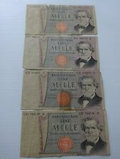 4 X BANK OF ITALY-1000 LIRE VINTAGE PAPER NOTES