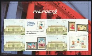 Philippines SK – 2021 Pope John Paul II 1981 Visit, Personalized MS/4, MNH, VF