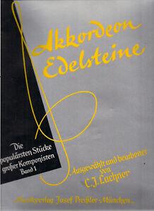 AKKORDEON EDELSTEINE Band 1 Populäre Stücke Musikverlag PREISSLER  - NOTENHEFT
