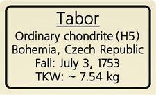 Meteorite label Tabor