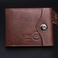 Fashion Men Retro Bifold Wallet ID Cards Holder Coin Bag Button Purse Pock {27}