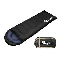EGOZ Peanut Sleeping Bag Easy to carry black Warm Adult Outdoor 3 Season Camping