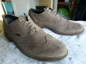 """MENS GENUINE """"BARBOUR"""" BEIGE SUEDE BROGUES SHOES UK SIZE 11 G.COND!"""