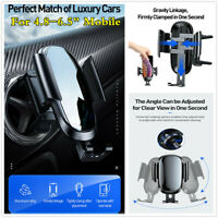 Metal Gravity Sensor Universal Air Vent Phone Holder Car GPS Mount Cradle Stand