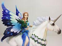 "10 1/2"" ANNE STOKES Realm of Enchantment Fairy Unicorn Dragon Fantasy Statue"