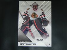 2016-17 SP Game Used Base Card #37 Corey Crawford Chicago Blackhawks / 50
