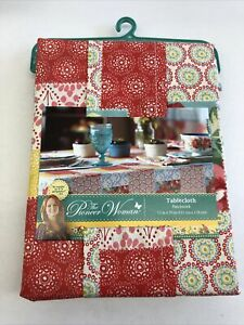 """The Pioneer Women Patchwork Tablecloth 52""""x70"""" Brand New"""