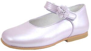 DE OSU - Girls Classic Lavender/Lilac Leather Dress Shoes - European Size 2-10