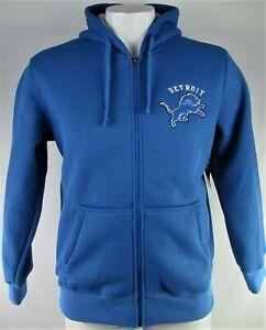 Detroit Lions NFL G-III Men's Knit Fleece Lined Full-Zip Hooded Sweater