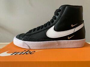 Women's Nike Blazer Mid 77 SE US6 (Black/White-Hyper Royal-White) Brand New