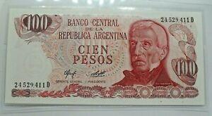 Km# 291 - 100 pesos 1972  - FDC - Billet Argentine - N7653