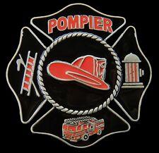 POMPIER FRENCH FIREMEN FIREMAN RED FIRE TRUCK BELT BUCKLE BOUCLE DE CEINTURES