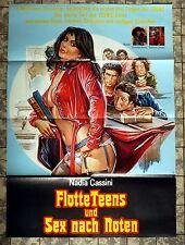 Flotte Teens und Sex nach Noten * A1-Filmposter - German 1-Sheet 1980 EROTIK