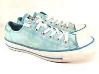 Converse Chuck Taylor All Star Low Top Power Blue Acid Washed Mens 6 Womens 8