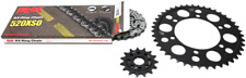 RK 3066-119P 520XSO X-Ring Steel Quick Acceleration Chain Kit Silver