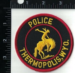 Thermopolis Police Patch Wyoming WY