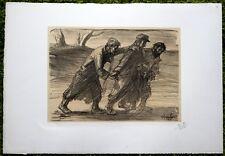 Lithographie - Steinlen - Les trois compagnons - Guerre 14-18-