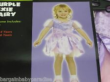 NWT Totally Ghoul Purple Pixie Fairy Dress Halloween Costume Toddlers 4-6 Years