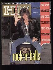 HM HEAVY METAL 70/1989 KINGDOME COME VOW WOW TIN MACHINE DAVID BOWIE MALMSTEEN