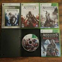 Assassin's Creed 1 2 3 Revelation Brotherhood Bundle Lot of 5 Xbox 360 Games