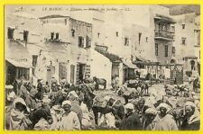 cpa de 1900 MAROC MOROCCO TÉTOUAN Marché des Jardins Animés SOUK Market Gardens