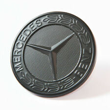 MERCEDES BENZ SPORT BLACK BONNET BADGE - 57MM NEW - C E S CLK AMG CLASS EMBLEM