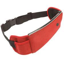 Red Large Capacity Outdoor Running Multifunction Waist Belt Bag Headphone Hole