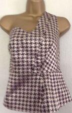 Cotton Blend Fitted One Shoulder Waist Length Women's Tops & Shirts