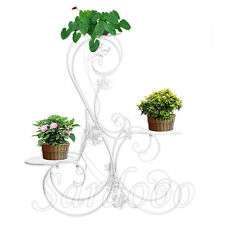 Blumenständer Metall Blumenbank Pflanzentreppe Blumenregal Blumentopf  Weiß