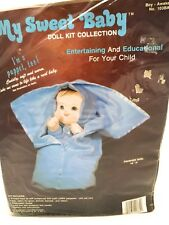 MY SWEET BABY DOLL PUPPET KIT COLLECTION Boy Awake 1984 Sewing Craft Collectible