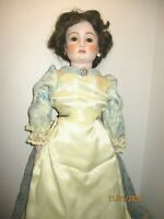 """Vintage 24""""-25"""" Reproduction French Charmante POLLY MANN Doll Bisque/ Cloth 1955"""