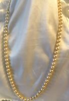 "Vintage MIRIAM HASKELL 30"" Glass Pearl Necklace~ LOVELY!"