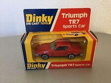 VINTAGE#DINKY TOYS RARE VINTAGE TRIUMPH TR7 SPORTS CAR 211#NIB