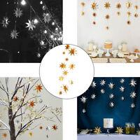 Fj- LN _ Cn _ da Parete Natale Stella 3D Ornamento Banner Stringa Finestra Viale