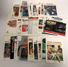 Atari Game Manual Lot - Many Different Manuals - Pac-Man, Asteroids, Warlords +