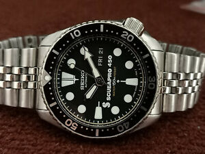 VINTAGE SEIKO DIVER 6309-7290 SCUBAPRO FACE MODDED AUTOMATIC MEN WATCH 262439