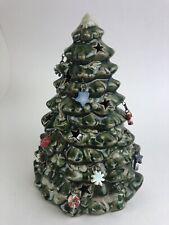 Ceramic Christmas Tree Luminary Tea Light Holder