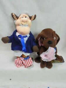 Meanies Bull Bill Clinton & Buddy The Dog Monica Lewinsky