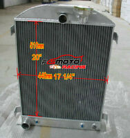 3 ROW aluminum radiator for FORD Chopped-Ford Engine 1932 32 Hi-Boy AT/MT