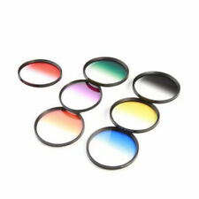 Hot 7pcs 58mm Graduated Color Filter Kit for Canon EOS 1100D 600D Lens LF349