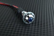 8mm 12v Blue LED Metal Indicator Light | Pilot Dash Pre-Wired LED - US Seller