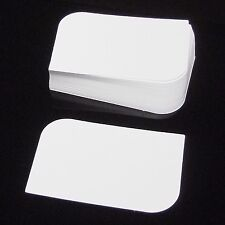 100 x White Leaf Semi Rounded Corner Blank Business Cards, 250gsm UK Card Crafts