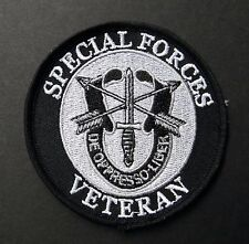 SPECIAL FORCES VETERAN VET DE OPPRESSO LIBER EMBROIDERED PATCH 3.25 INCHES ARMY