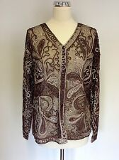 STEPHEN Y BROWN APPLIQUÉ SPARKLE NET EVENING/ SPECIAL OCCASION TOP SIZE L/XL