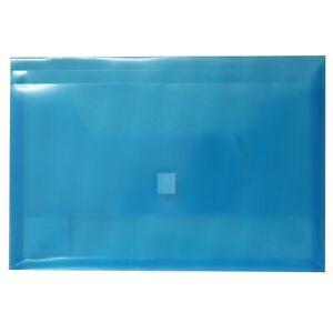 24x Winc Polypropylene Document Wallet with Foolscap Translucent BLUE