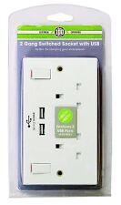 Pifco 2 GRUPPO scambiato presa a muro con uscita dual USB (2 Gruppo presa)