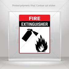 Decals Decal Fire Extinguisher Sign Helmet Atv Bike Garage st5 XX7XX