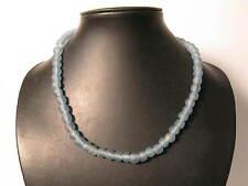 Polvere perle in vetro 10mm BLU CHIARO Ghana riciclaggio Powder glass beads afrozip