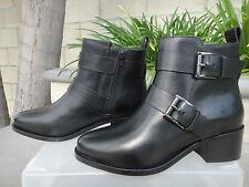 Barneys New York Black Ankle Boot, Leather w/Inside Zip, EUR37