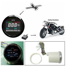52mm Motorcycle Digital LCD GPS Speedometer 0-999 999 (Mi,NMI,KM) Mileage Range